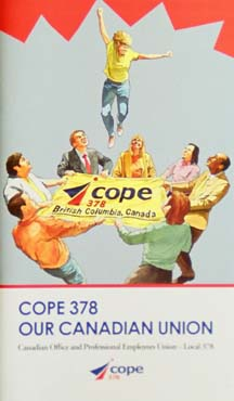 COPE 378 booklet Canadian union 2005