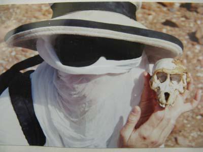 visiting ancestors in Namibia